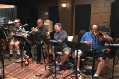 Briefcase Blues Recording Brass 1