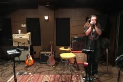 Justin on Harmonica