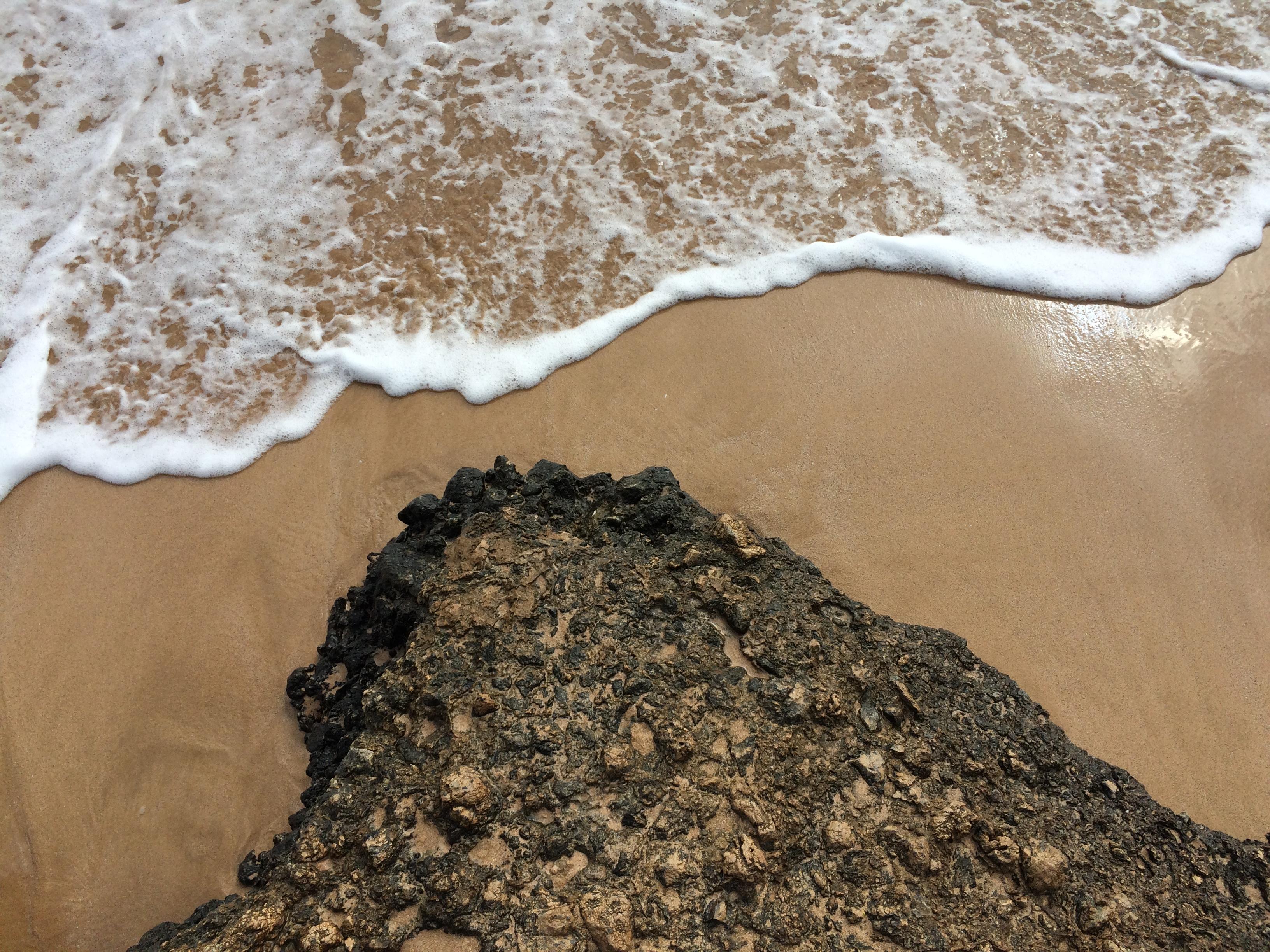 Lava Rock Ocean Sand
